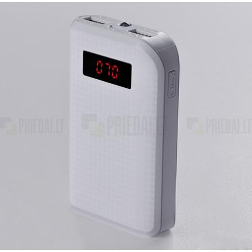Remax atsarginė išorinė lyčio jonų baterija (10000 mAh), angl. Power bank - balta