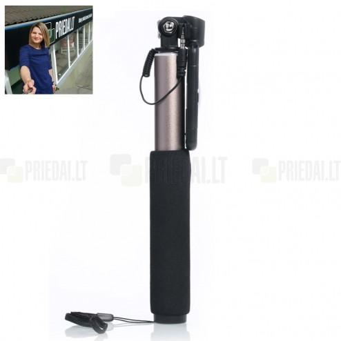 """""""Remax"""" teleskopinė asmenukių (selfie) auksinė fotogravimo lazda (laikiklis) - monopod"""