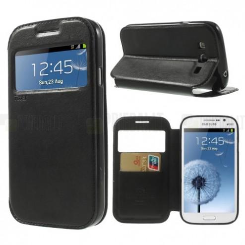 Roar Noble atverčiamas Samsung Galaxy Grand Neo (Lite) juodas odinis dėklas