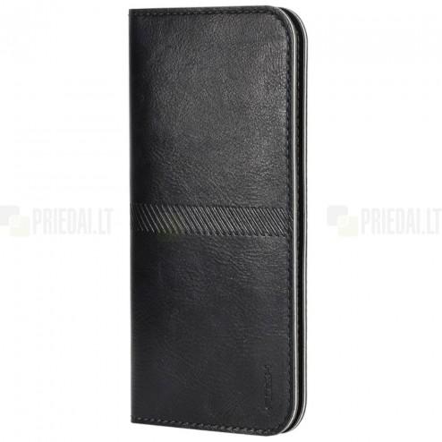 """Solidi """"Rock"""" juoda odinė universali įmautė - piniginė (L dydis)"""