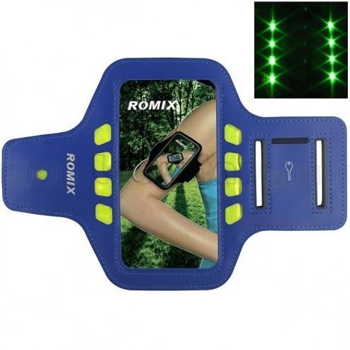 """""""Romix"""" Led dėklas sportui (raištis ant rankos) - tamsiai mėlynas, universalus (L dydis)"""