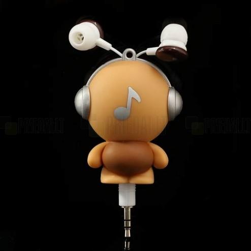 """""""Runat"""" Big Boy įkišamos į ausis rudos ausinės"""