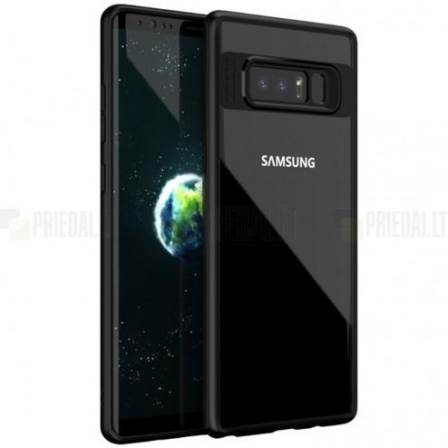"""""""IPAKY"""" Frame Samsung Galaxy Note 8 (N950F) skaidrus juodos spalvos apvadais kieto silikono (TPU) dėklas"""