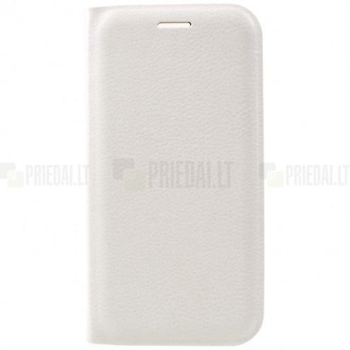 Samsung Galaxy A5 2017 (A520) baltas odinis atverčiamas Smart Wallet dėklas - piniginė
