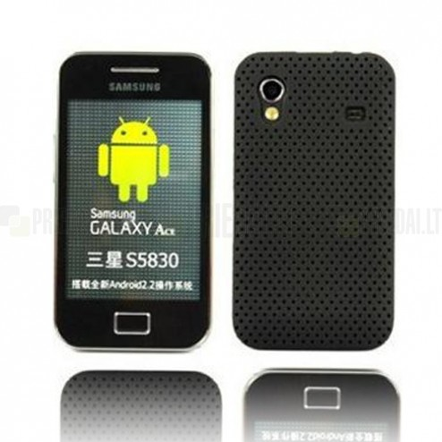 Tinklelio formos juodas Samsung Galaxy Ace S5830 dėklas