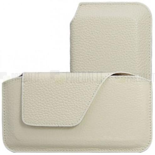 Universali smėlio spalvos odinė įmautė - dėklas (XS dydis)