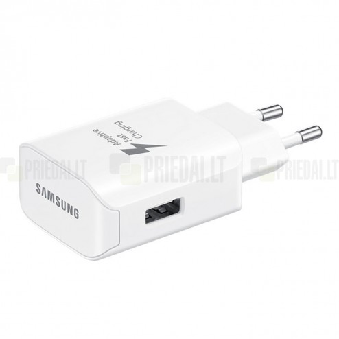 "Originalus ""Samsung"" Adaptive Fast Charging EP-TA300 baltas kelioninis (sieninis) įkroviklis (Europinis modelis, 2 Amp)"