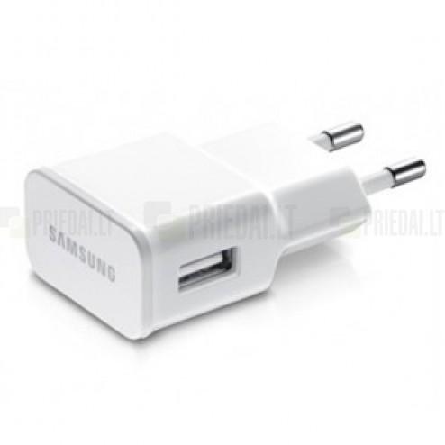 """Originalus """"Samsung"""" Adaptive baltas kelioninis (sieninis) įkroviklis EP-TA50EWE (Europinis modelis, 1.55 A)"""