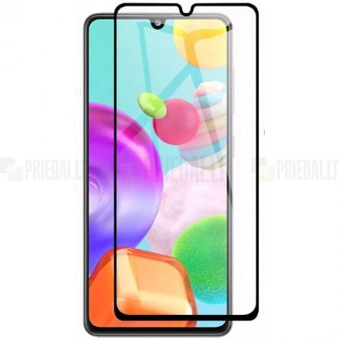 """Samsung Galaxy A41 """"Rurihai"""" 9H Tempered Glass sustiprintos apsaugos juodas pilnai dengiantis apsauginis ekrano stiklas"""