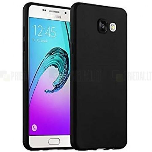 Samsung Galaxy A5 (2016) A510 matinis kieto silikono TPU juodas dėklas - nugarėlė