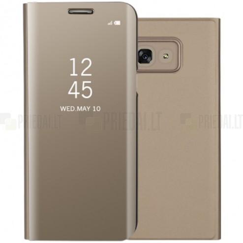 Samsung Galaxy A5 2017 (A520) plastikinis atverčiamas auksinis dėklas