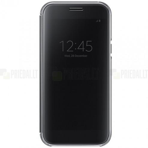 Samsung Galaxy A5 2016 (A520) originalus Clear View Cover atverčiamas juodas dėklas