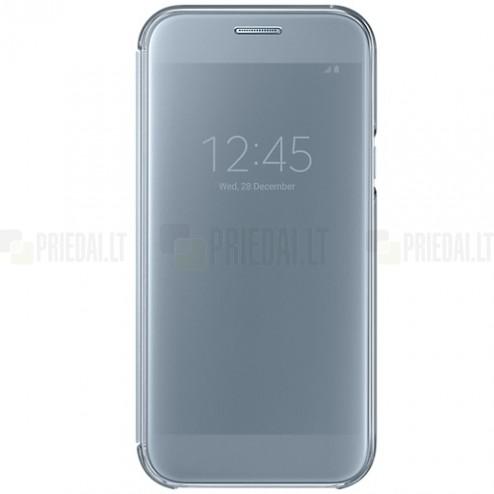 Samsung Galaxy A5 2016 (A520) originalus Clear View Cover atverčiamas sidabrinis dėklas