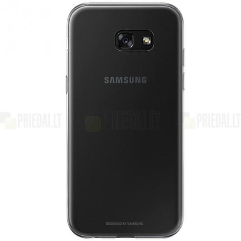 Samsung Galaxy A5 2017 (A520) Clear Cover skaidrus (permatomas) kieto silikono TPU ploniausias pasaulyje bespalvis dėklas