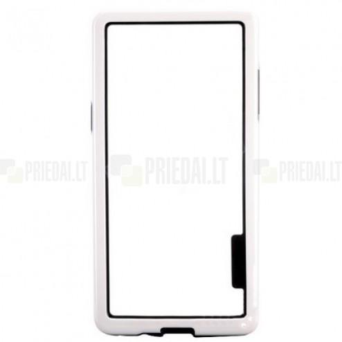 Baltas klasikinis Samsung Galaxy A5 TPU rėmelis - kraštų apvadas (bamperis)
