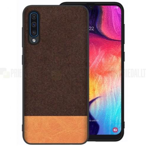 """""""Fashion"""" Samsung Galaxy A50 (A505F) šviesiai rudas kieto siliko dėklas"""