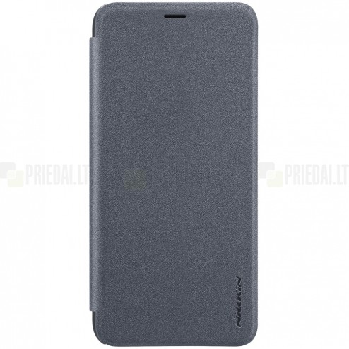 Samsung Galaxy A6+ 2018 (A605F) pilkas odinis atverčiamas Nillkin Sparkle dėklas - knygutė