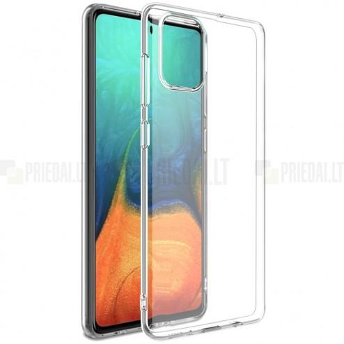 Samsung Galaxy A71 (A715F) kieto silikono TPU skaidrus dėklas - nugarėlė