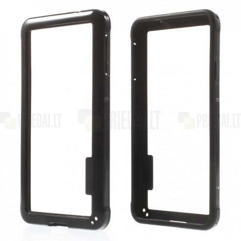 Juodas klasikinis Samsung Galaxy Alpha G850 TPU rėmelis - kraštų apvadas (bamperis)