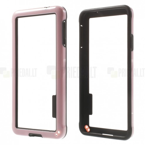 Rožinis klasikinis Samsung Galaxy Alpha G850 TPU rėmelis - kraštų apvadas (bamperis)