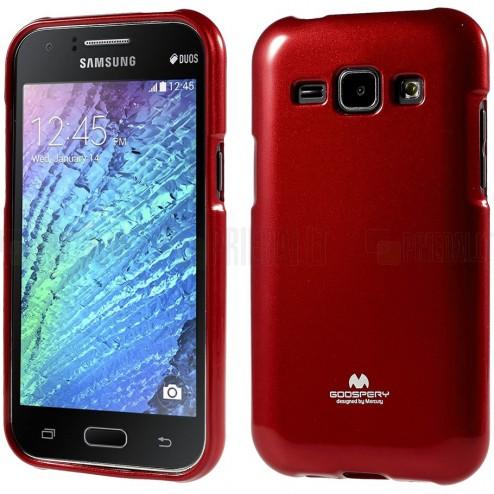 Samsung Galaxy J1 Mercury raudonas kieto silikono tpu dėklas - nugarėlė