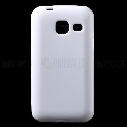Samsung Galaxy J1 mini (J105) kieto silikono TPU baltas dėklas - nugarėlė
