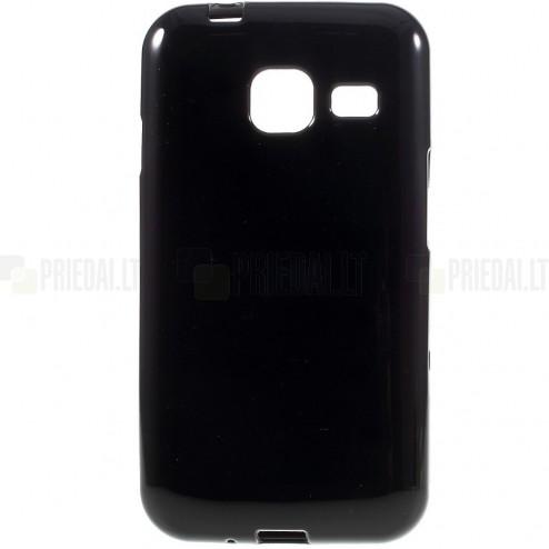 Samsung Galaxy J1 mini (J105) kieto silikono TPU juodas dėklas - nugarėlė
