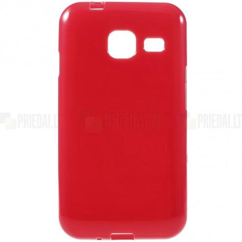 Samsung Galaxy J1 mini (J105) kieto silikono TPU raudonas dėklas - nugarėlė