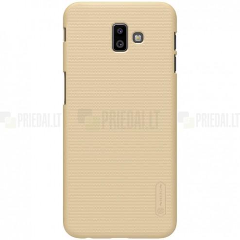 Samsung Galaxy J6+ 2018 (J610) Nillkin Frosted Shield auksinis plastikinis dėklas