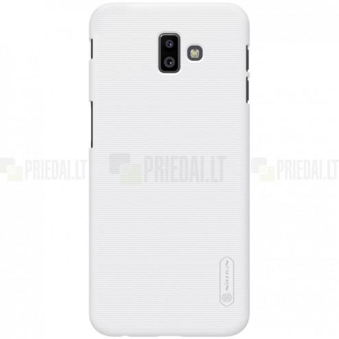 Samsung Galaxy J6+ 2018 (J610) Nillkin Frosted Shield baltas plastikinis dėklas
