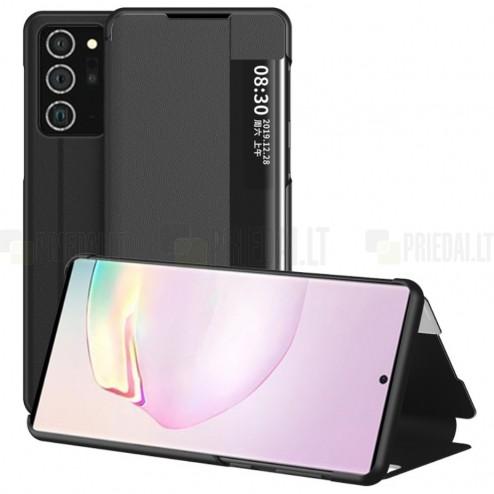Samsung Galaxy Note 20 (N980F) View Line juodas atverčiamas dėklas - knygutė