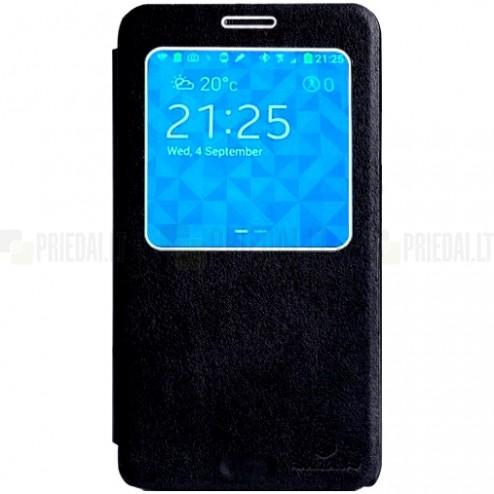 Samsung Galaxy Note 3 Nillkin Leather atverčiamas juodas dėklas