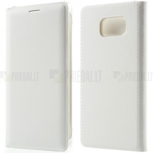 Samsung Galaxy Note 7 (N930) baltas odinis atverčiamas Smart Wallet dėklas - piniginė