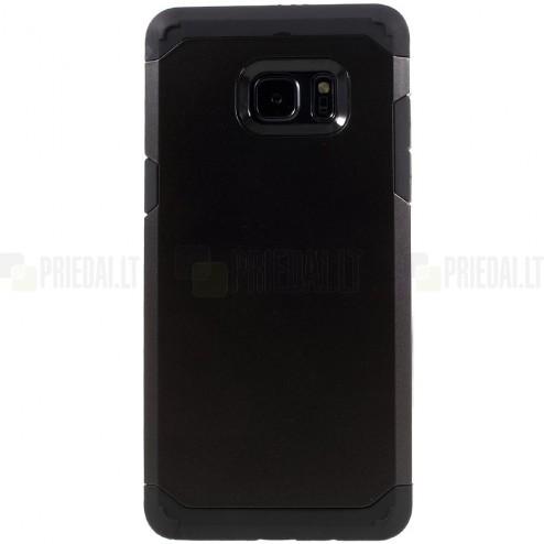 Sustiprintos apsaugos Samsung Galaxy Note 7 (N930) juodas kieto silikono (TPU) ir plastiko dėklas