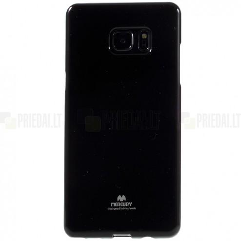 Samsung Galaxy Note 7 (N930) Mercury juodas kieto silikono tpu dėklas - nugarėlė