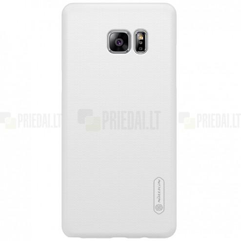 Nillkin Frosted Shield Samsung Galaxy Note 7 (N930) baltas plastikinis dėklas + apsauginė ekrano plėvelė