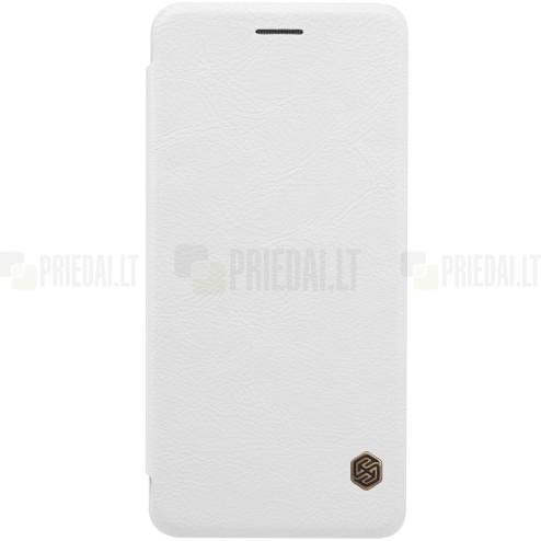 """Prabangus """"Nillkin"""" Qin serijos baltas odinis atverčiamas Samsung Galaxy Note 7 (N930) dėklas"""