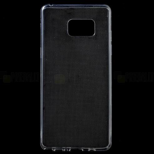 Samsung Galaxy Note 7 (N930) skaidrus (permatomas) kieto silikono TPU ploniausias pasaulyje bespalvis dėklas