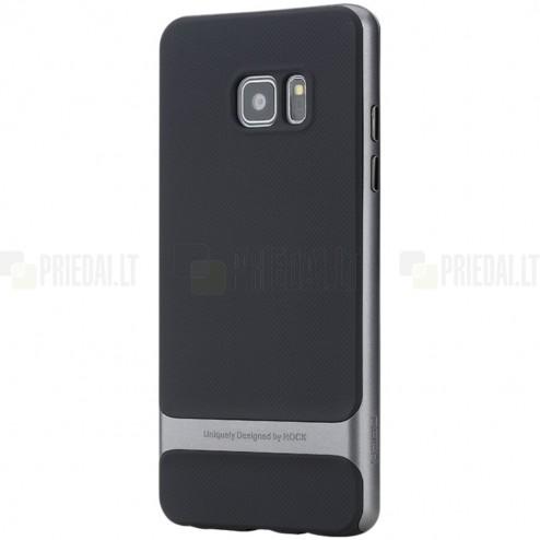 """""""Rock"""" Royce sustiprintos apsaugos Samsung Galaxy Note 7 (N930) juodas pilkos spalvos apvadais kieto silikono (TPU) ir plastiko dėklas"""