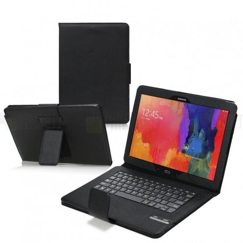 Samsung Galaxy Note Pro 12.2 P905 atverčiamas juodas odinis dėklas su bluetooth belaide klaviatūra