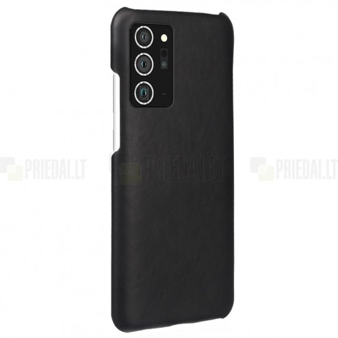 Slim Leather Samsung Galaxy Note 20 Ultra (N986F) juodas odinis dėklas - nugarėlė