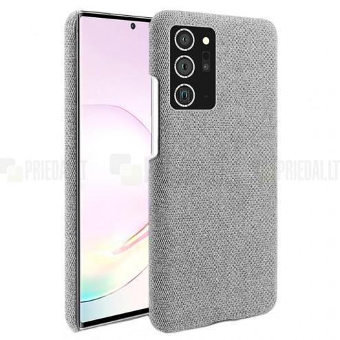 """Fashion"" Samsung Galaxy Note 20 Ultra (N986F) pilkas kieto siliko dėklas"