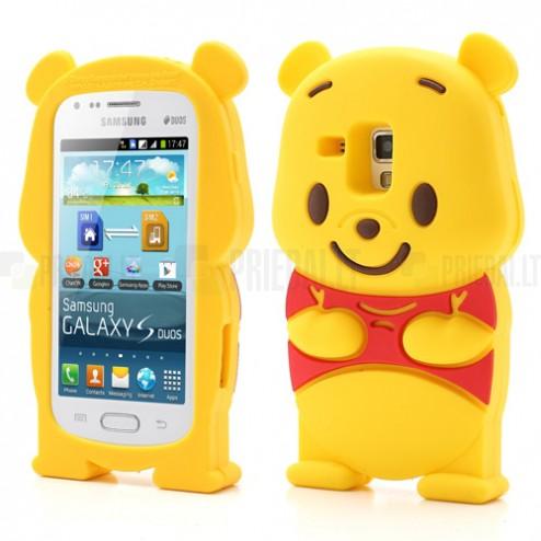 Samsung Galaxy S Duos S7562 žaismingas vaikiškas silikoninis dėklas meškiukas (Samsung Galaxy S Trend S7560 dėklas)