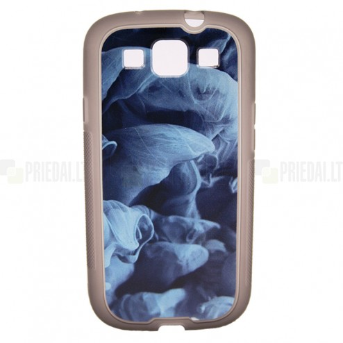 """Bullet"" Samsung Galaxy S3 i9300 TPU dėklas - mėlynas dūmas"