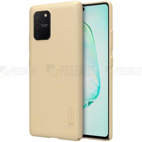 Samsung Galaxy S10 Lite (G970) Nillkin Frosted Shield auksinis plastikinis dėklas