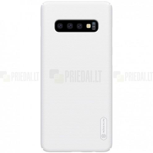 Samsung Galaxy S10 (G973) Nillkin Frosted Shield baltas plastikinis dėklas