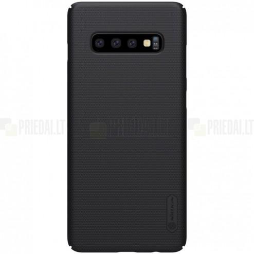 Samsung Galaxy S10 (G973) Nillkin Frosted Shield juodas plastikinis dėklas