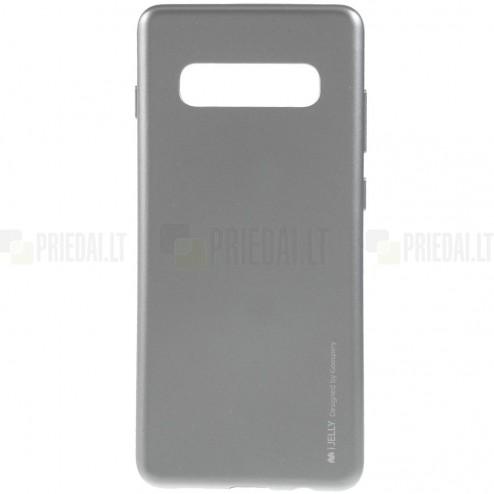 Samsung Galaxy S10+ (G975) Mercury pilkas kieto silikono tpu dėklas - nugarėlė