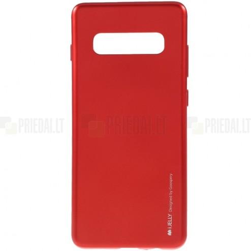 Samsung Galaxy S10+ (G975) Mercury raudonas kieto silikono tpu dėklas - nugarėlė
