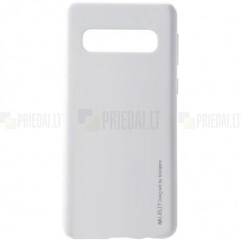 Samsung Galaxy S10+ (G975) Mercury sidabrinis kieto silikono tpu dėklas - nugarėlė